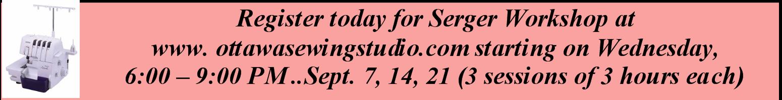 Serger Workshop